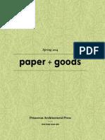 Princeton Architecture Press Spring 2014 Paper + Goods