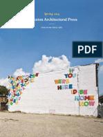 Princeton Architecture Press Spring 2014