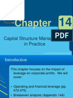 Ch 14 Capital Structure Management
