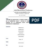 Informe de Inspeccion Al Sobre El Rio Chibunga (1)