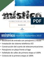 Informe avance Mistico Noviembre 13