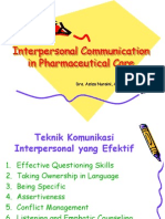 Interpersonal Communication in Pharmaceutical Care