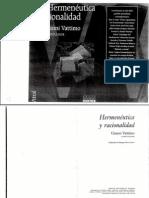 Gianni Vattimo, Hermeneútica y racionalidad.Conversación con Luigi Pareyson