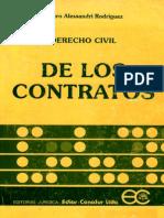De Los Contratos - Arturo Alessandri R.