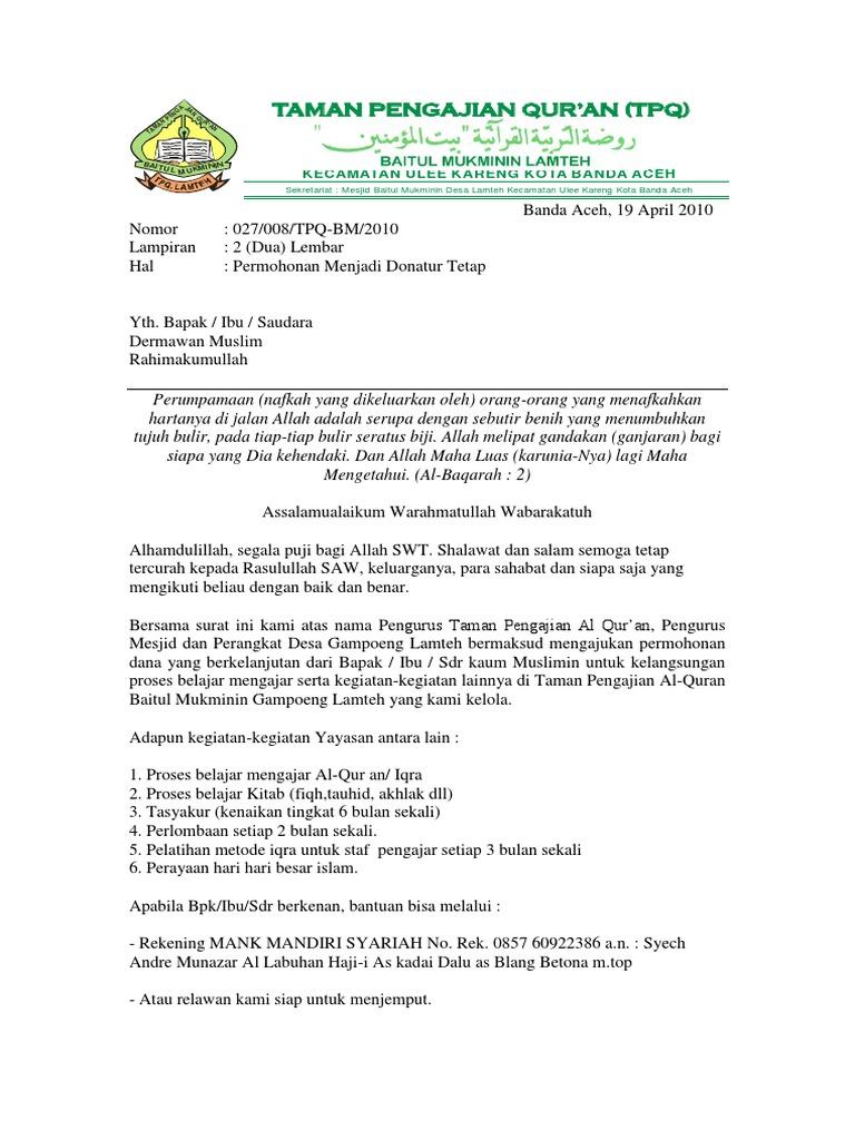 Contoh Proposal Donatur Guru Ilmu Sosial