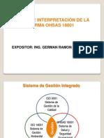 Interpretación OHSAS 18001