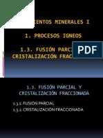 2_3_Fusión Parcial y Cristalización Fraccionada
