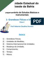 1 - Unidades e Grandezas Físicas_Física_I