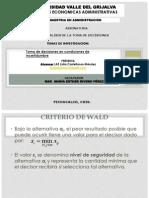 Exposicion Lidia Castellanos - Unidad 5 - Toma de Decisiones en Cond de Incertidumbre