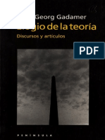 Hans-Georg Gadamer- -Elogio a la teoría- Discursos y artículos