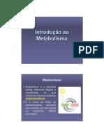1. Introdução ao Metabolismo (G1a)