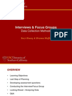 interviews  focus groups usc temp