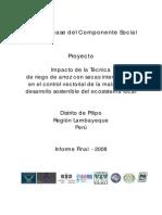 Informe Linea Basal Componente Social