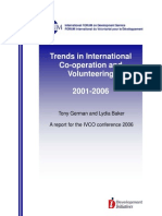 Trends in International Co-operation and Volunteering, 2001 - 2006