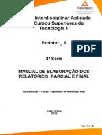 Cead-20132-Tecnologia Em Gestao Publica-pr - Tecnologia Em Gestao Publica - Projeto Interdisc. Aplicado a Tec. Em Gestao Publica II - Nr (a2ead430)-Material de Apoio-manual de Elaboracao Relatorios Parcial e Final
