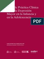 Guía de Práctica Clínica sobre la Depresion en Infantes y Adolescentes =