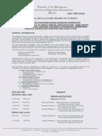 PRC Program of Examination for the December 2013 Philippine Nursing Board Exam (NLE)