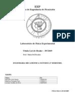 Relatório de Física Lei de Hooke 2