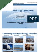 renewable energy optimazation