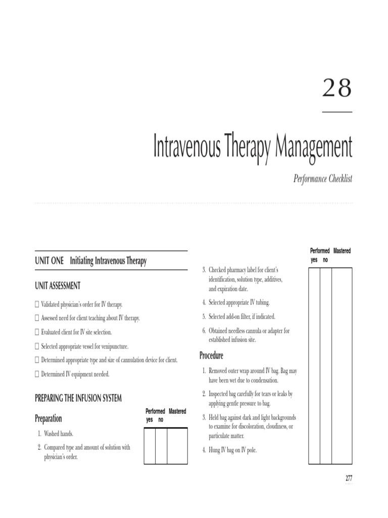 IV therapy pdf   Intravenous Therapy (89 views)