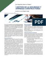 Sistema de Gestión de Seguridad y Salud en Empresas Constructoras