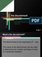Discriminant PPT Alg2