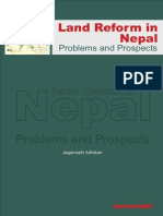 Land Reform in Nepal. Problems and Prospects