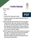 FAKTOR-FAKTOR KUALITAS LINGKUNGAN