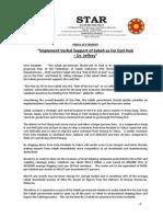 PressRelease-2013-Implement Verbal Support of Sabah as Far East Hub - Jeffrey-14 Nov 2013.docx