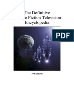 The Definative Science Fiction Television Encyclopedia (3rd Edition)