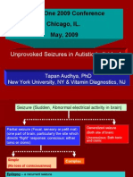 Unprovoked Seizures in Autistic Individuals