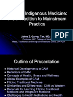 Filipino Indigenous Medicine From Tradition to Mainstream Practice