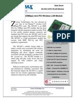 IEEE 802.11g (54Mbps) mini PCI Wireless LAN Module - D711035D