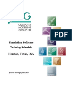 2013 Houston Training Schedule