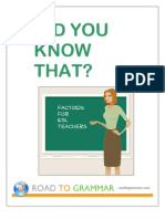 Factoids for ESL Teachers