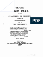 1835 Oxford Night Caps Being a Collection of Reciepts for Making Various Beverages Used in the University 3rd Ed