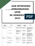 INTERVENSI UPSR 2013