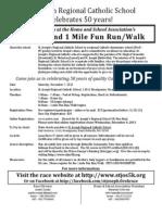 St Joseph's 5K/One Mile Fun Run Registration Form