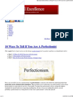 10 Ways To Tell If You Are A Perfectionist.