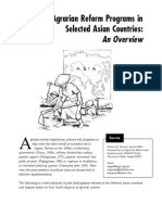 agrarian reform programs in selected asian countries an overview
