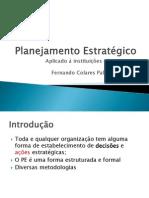 Planejamento estratégico aplicado à instituições educacionais aula 1