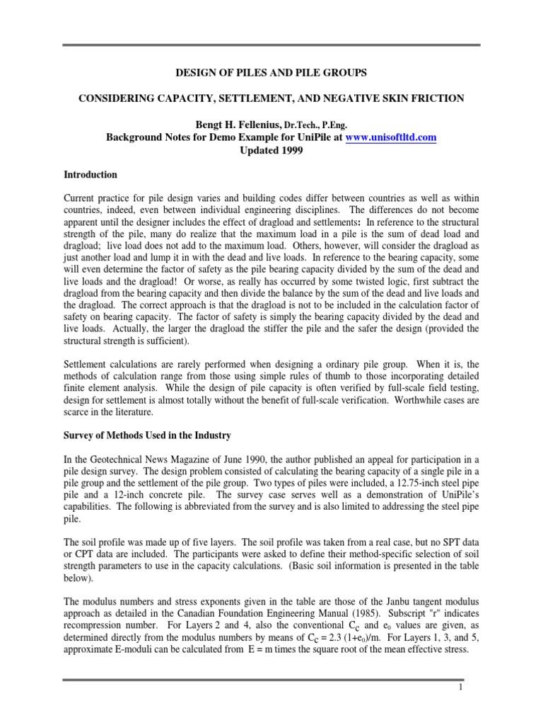 223 Pile Analysis Survey pdf | Strength Of Materials | Deep