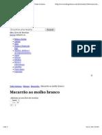 MACARRÃO AO MOLHO BRANCO