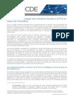 Maximiser les avantages des incitations fiscales à la R-D en faveur de l'innovation