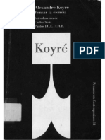 Alexandre Koyré, Pensar la ciencia