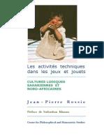 Cultures Ludiques Sahariennes et Nord-Africaines. Les activitiés techniques dans les jeux et jouets