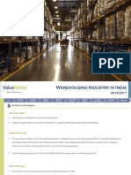 Warehousing Industry in India 2013-2017 - Industry Research Report by ValueNotes