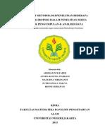 Makalah Metodologi Penelitian Beberapa Konsep & Definisi Dalam Penelitian Serta Teknik Pengumpulan & Analisis Data