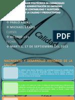 HISTORIA Y EVOLUCIÓN DE LA CALIDAD
