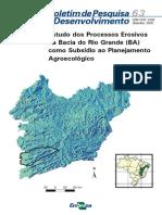 Estudo Dos Processos Erosivos Na Bacia Do Rio Grande (BA) Como Subsidio Ao Planejamento Agroecologico